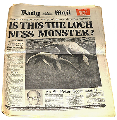 Monster van Loch Ness in 'The Daily Mail' (1975)