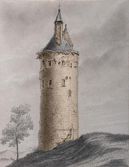 Prent van de Toeterstoren, door Frans Vandenhove