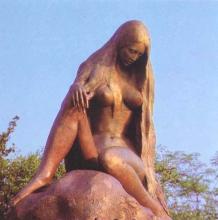 Standbeeld van de nimf van de Loreley