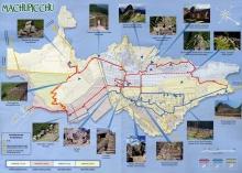 The map of Machu Picchu