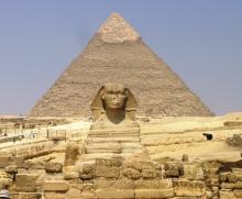 Sfinx en de Piramide van Cheops
